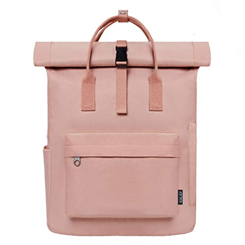 KALIDI Rucksack Damen Rucksack Herren Tagesrucksack mit Laptopfach, Unisex Modern Rolltop Rucksack Daypack, Wasserdichter Schulrucksack,Lässiger Backpack Schule Freizeit Uni Arbeit (rosa)