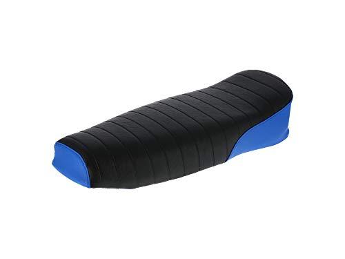 AKF Sitzbank strukturiert, schwarz/blau ohne Schriftzug - für Simson S50, S51, S70 Enduro