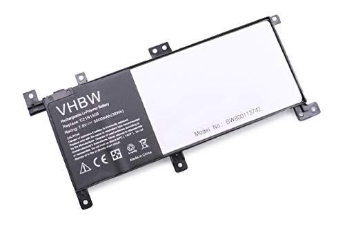 vhbw Akku kompatibel mit Asus F556UQ-DM1232T, F556UQ-DM1237, F556UQ-DM1256T Notebook (5000mAh, 7,6V, Li-Polymer)