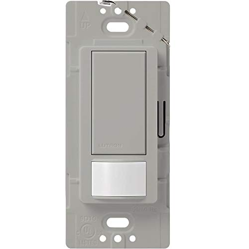 Lutron Maestro Motion Sensor switch, no neutral required, 600 Watts Single-Pole/Multi Location, MS-OPS5M-GR, Gray