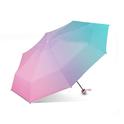 Galatée Taschenschirm Mini Regenschirm Windproof Sturmfest 8 Ribs Pocket Taschenschirm leicht & kompakt 280g UV-Schutz UPF 50+ Regenresistent inklusive Kapseletui (Aurora)