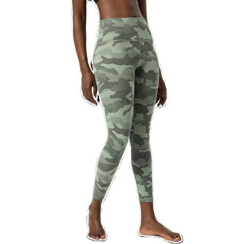 QTJY Leggings Push-up de Camuflaje Pantalones de Yoga Fitness para Mujer Cintura Alta sentadilla Gimnasio Deportes Leggings para Correr al Aire Libre E M