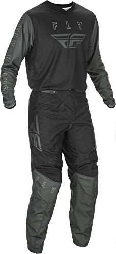 2021 Fly Racing F-16 Adult Black/Grey Motocross Gear Combination (Adult Large Jersey/Adult 36' Waist Pant)
