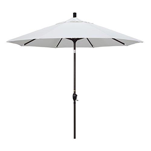California Umbrella GSPT908117-5404 9' Round Aluminum Market, Crank Lift, Push Button Tilt, Bronze...
