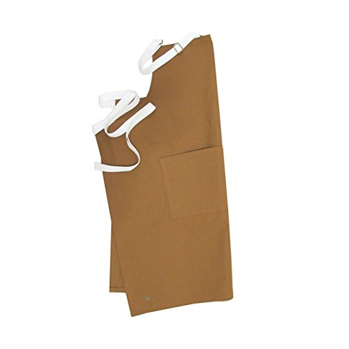 MOOJICRAFT CLASSIC TAN CANVAS APRON. MADE FROM 100% USA COTTON CANVAS.