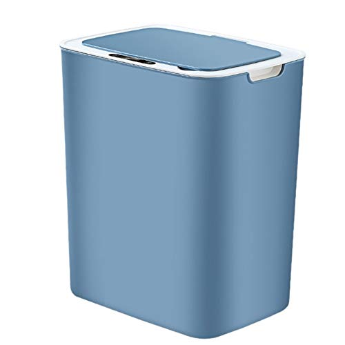 YUNLAN La Basura Sensor Inteligente Cubo de Basura del Sensor automático de inducción Bote de Basura Cubo de la Basura respetuosa del Medio Ambiente Cubo de Basura del hogar Bin 14L Cubo Basura