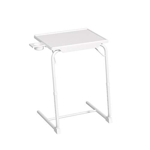 Ypkia Beistelltisch Weiß Couchtisch Betttisch Laptop Tisch FüR Bett Sofa HöHenverstellbar Schwarz Klappbar Beistelltisch 70cm FüRs Wohnzimmer Hoch Betttablett Pflegetisch Serviertisch