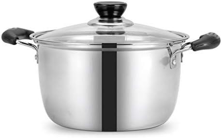 Marmites Ustensiles de cuisine en acier inoxydable de 2,4 à 6,5 litres avec ustensiles de cuisine multi-usages antiadhésifs Les marmites (Taille : 2.4L)