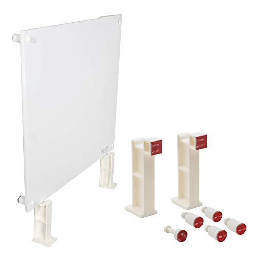 Panel calefactor de pared con termostato, 400 W, calefactor de convector, 120 V, reflector eléctrico de calor, ideal para habitaciones de hasta 50% de calefacción, triple reforzado, por EconoHome