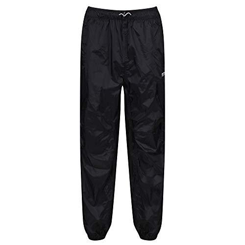 Regatta Active Packaway II Overtrousers Pantalon protege pluie Randonnée Homme, Black, 50-52 EU