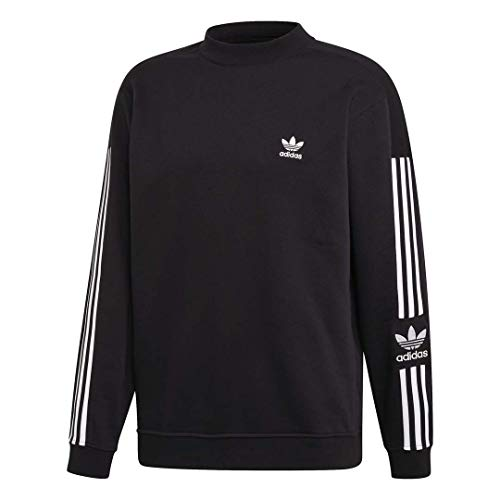 adidas Originals Men's Lock Up Crew Sweatshirt, black, Large