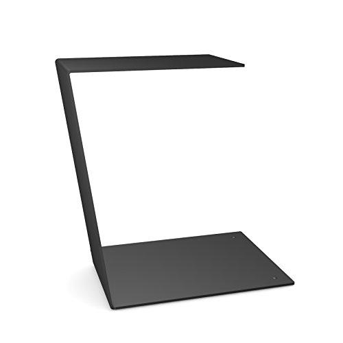 """home3000 Design Beistelltisch """"C-Table"""" schlicht und klar in schwarz aus Metall"""