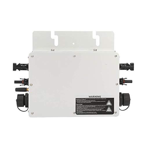 Jadpes Wasserdichter Wechselrichter mit Miniatur-Solarnetzanschluss, 600W IP65 Wasserdichter Solarstromwandler Netzanschluss-Mikro-Wechselrichter 22-50VDC 40A(120v)