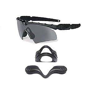 Galaxy Nose Pad Rubber Kits For Oakley Si Ballistic M Frame 2.0 Z87 Sunglasses Black Color