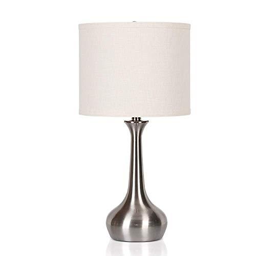 Lámpara de Mesa de Iluminación Decorativa Interior Lámpara de Mesa, Moderno cepillado del metal del acero blanca Cilindro lámpara de mesa, persiana for el dormitorio de la sala de la familia adecuada