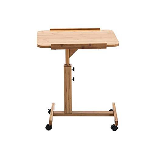 QIDI Laptop-Tisch Stand Hölzern Schreibtisch Wagen Lapdesk Mausbrett Verstellbare Höhe Abschließbar Rollen Tragbar Beweglich Sofa Bett Büro (größe : 40 * 60 * 62-94cm)