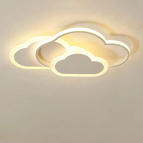 RHTCEN 42W LED Deckenleuchte, Creative Cloud Deckenleuchte, 3000K Warmweißes Licht, 6cm Ultradünne Weiße Wolken Decken Lampe, Für Kinderzimmer Schlafzimmer Und Wohnzimmer [Energieklasse A ++]