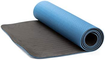 Mind Reader 2TONEMAT BLU Classic 1 4 inch Pro Eco Friendly Non Slip Fitness Two Tone Workout product image