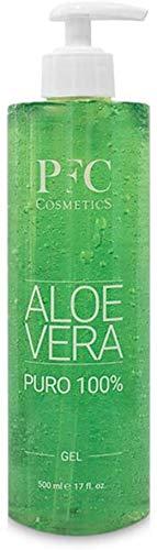 PFC Cosmetic Gel de Aloe Vera Puro 100% Loción Orgánica Gel de Crema Hidratante Natural para Quemaduras de Sol After Sun con Aloe Barbadensis para Higiene y Cuidado Corporal Personal (500 ml)