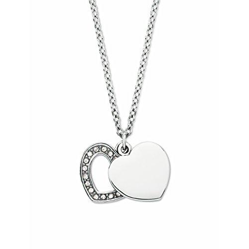 Noelani Damen-Kette mit Anhänger Herz mit Kristallen von Swarovski 42 + 3 cm
