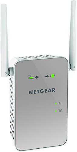 Netgear EX6150 Repetidor WiFi AC1200, Amplificador wifi doble banda, velocidad de hasta 1200 Mbps, puerto LAN gigabit, compatibilidad universal, Blanco