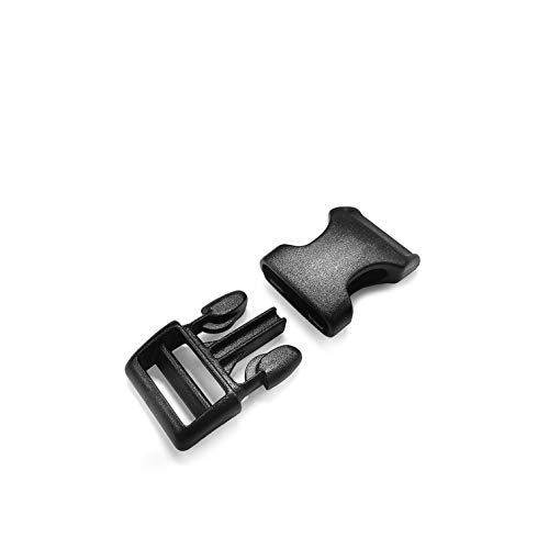 50 Stueck Steckschliesser Kunststoff 3//8 Inch Schwarz