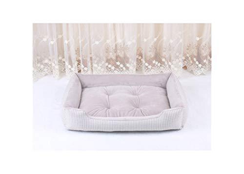 Dog Beds for Large Dogs Berber Fleece Warm Kennel Plush Beds Plaid Mat pet Blanket Bed for Dog,4,XXL