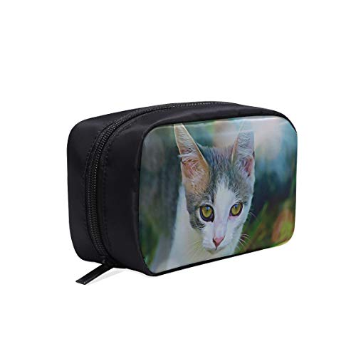 Women S Fashion Bags Digital Graphics Cat Watch Is Watching Young Clear Fashion Bag Travel Cooler Bag Mens Toiletry Travel Bag Cosmetic Bags Multifunction Case Best Cosmetic Bag