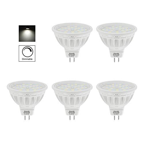 Aiwode(Lot de 5) Dimmable Ampoules LED MR16 GU5.3 Spot,5W Equivalent 50W Blanc Naturel 4000K 600LM RA85,Compatible avec DC12V LED Driver et 12V LED Gradateur.