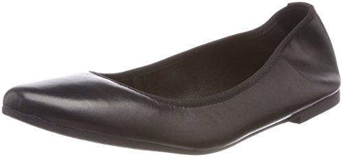 Tamaris Damen 22128 Geschlossene Ballerinas, Schwarz (Black Leather), 37 EU