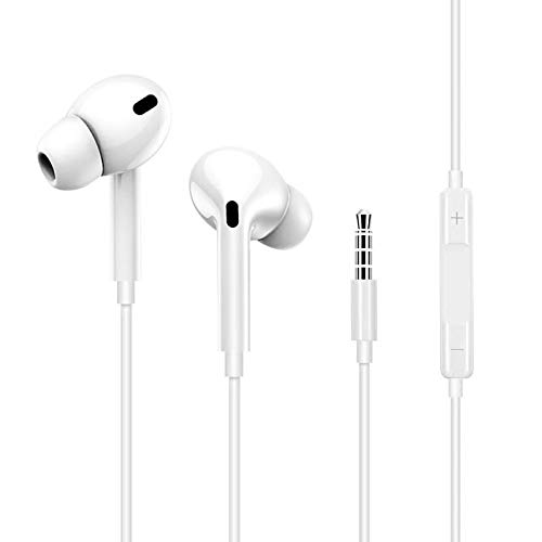 Earbuds for iPhone,Headphones Earphones,3.5mm jack Pop-up Pair Earbuds Headphones Noise Isolating Headset Support Call Volume Control Compatible with iPhone 7/7Plus