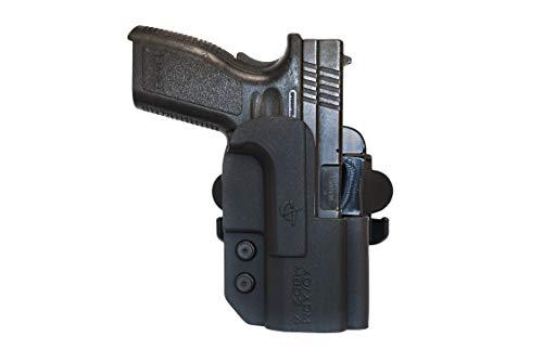 "COMP-TAC.COM International Holster Springfield - XDM 9mm / .40 4.5"" - Right - Black (Belt, Paddle, Drop Offset)"