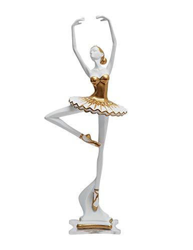 Amoy-Art Ballerina Skulptur Dekor Ballett Moderne Tänzer Figuren Arts Abstrakte Statue Frau Resin Dancer 30cmH