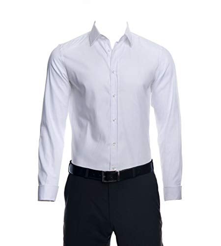 Joop! Herren 17 JSH-66PierceUMA 10005119 Businesshemd, Weiß (Weiss 100), Kragenweite: 38 cm