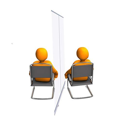 YJFENG Cortina De Partición Transparente, Retirable Enrollar Bandera, Aleación De Aluminio Soporte De Cartel Pantalla De PVC Impermeable, Separadores De Habitaciones, para Gimnasio Oficina