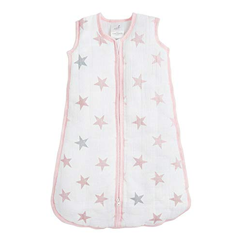aden by aden + anais gigoteuse cozy plus, mousseline 100% coton et molletonnage 100% polyester, 2.5 TOG, doll, small