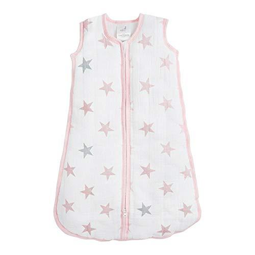 aden by aden + anais slaapzak Cozy plus Pop - sterren M (6-12 mois) roze