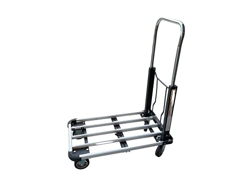 Pake Handling Tools - Aluminum Adjustable Platform Truck 330 lb.Capacity Foldable& Expandable