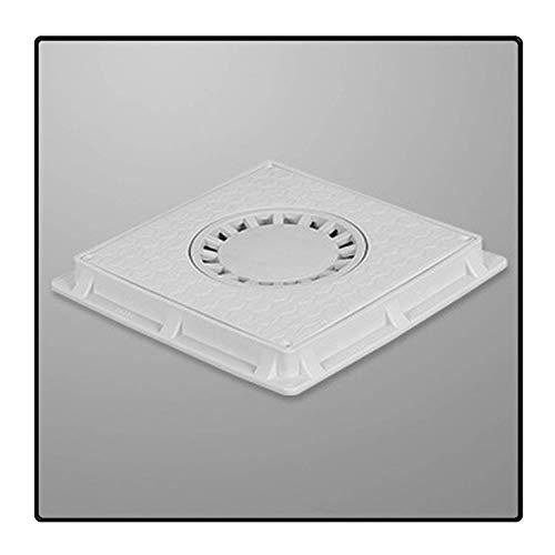 Uzman-Versand Schachtabdeckung mit Rahmen PP Revisionsschacht-Deckel (30x30cm Special) Ablaufabdeckung Garten Boden Entwässerungsschacht Gartenschacht Schachtdeckel abflussabdeckung