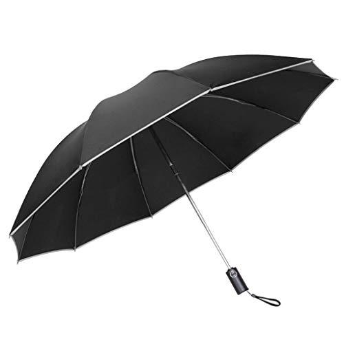 LHL Regenschirm-Regenschirm Sonnenschirm Handschirm Doppelschirm Freizeitschirm Sonnenschirm UV-Regenschirm im Freien Winddicht Regenschirm (Color : Gray)