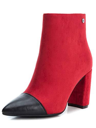 XTI Botín TNT035101 para Mujer Rojo 39