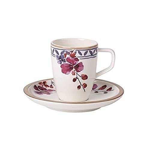 Villeroy & Boch Artesano Provencal Lavande Tasse Espresso conper Haute, 2 pièces, Porcelaine, Multicolore