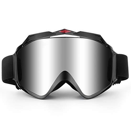 Gafas de equitación para casco de motocicleta con máscara extraíble desmontable a prueba de niebla, correa antideslizante, resistente al viento, gafas de motocross para todo terreno