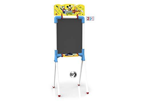 Chicos - Minnie Mouse Pizarra Junior, Reversible 2 En 1 para Rotuladores y Tizas, Incluye Rotulador, Tizas. Un Borrador y Una Plantilla de Mickey, a partir de 3 años, Rosa, 37 X 32.5 X 98 cm