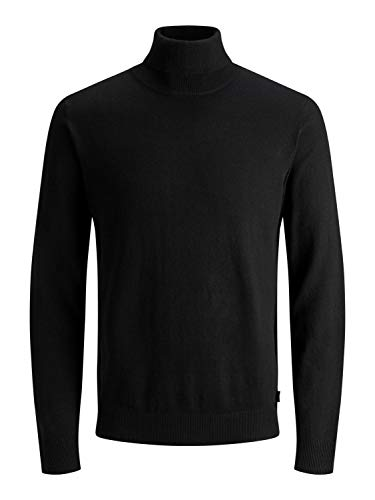 Jack & Jones Jjeemil Knit Roll Neck Noos Camiseta Cuello Alto, Negro (Black Black), XX-Large para Hombre