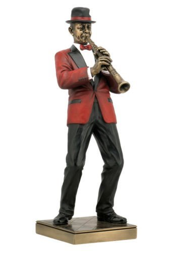 Clarinet Player Statue Skulptur Figur – Jazz Band Collection by WU