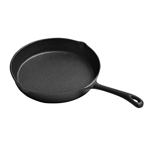 ShiSyan Cast Iron Skillet 25cm Pan, Tortilla sartén Antiadherente hogar sartén
