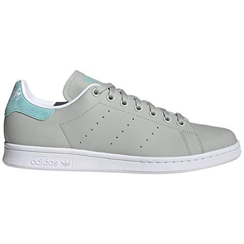 Adidas Men's Originals Stan Smith Shoes (8 M US, ASH Silver/Easy Mint/FTWR White)