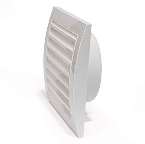 Ø150mm 190x190mm weiß Haubenentlüftung mit eingebautem Schädlingsschutzgitter, robuster Luftentlüftungsabdeckung, HLK-Abluftkanalabdeckung, Auslasskappe