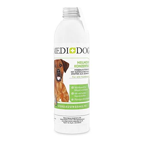 Medidog Moor Tonikum, flüssiges Heilmoor Konzentrat für Hund und Katze, Moorliquid, Moortränke, Huminstoffe, Verdauungsfördernd, Immunsystem, Heilerde, entspricht 2000g Heilmoorpaste